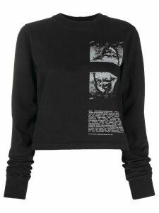 Rick Owens DRKSHDW contrast print sweatshirt - Black