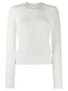 See by Chloé lace panel jumper - White