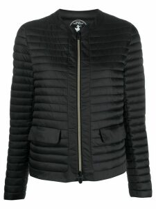 Save The Duck collarless quilted jacket - Black