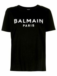 Balmain logo print short-sleeve T-shirt - Black