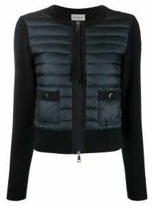 Moncler hybrid quilted jacket - Blue