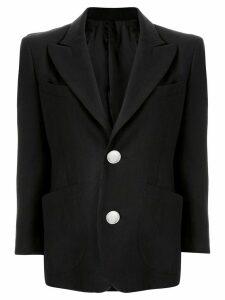 sulvam oversized dart blazer - Black