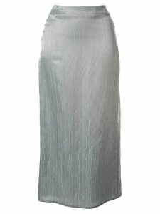 sulvam embroidered straight skirt - Green