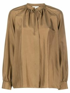 Vince silk long sleeve blouse - Brown