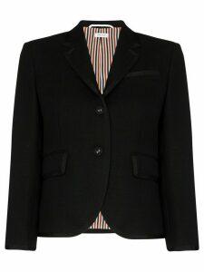 Thom Browne single-breasted cropped blazer - Black