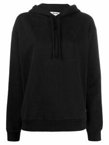 Acne Studios contrast-tape hoodie - Black