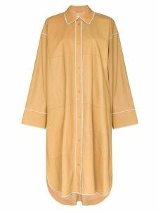 STAND STUDIO Kelsie leather shirt dress - Yellow