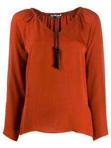 Dorothee Schumacher drawstring neck blouse - Brown
