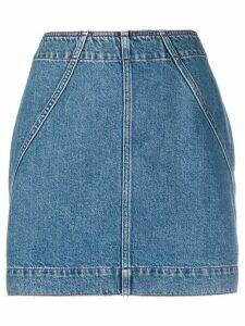 Philosophy Di Lorenzo Serafini high-waisted denim skirt - Blue