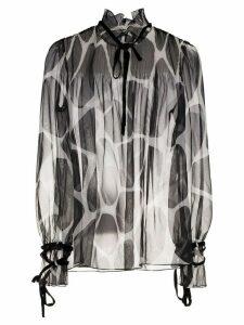 Valentino giraffe-print blouse - Black