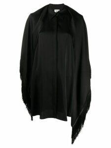 L'Autre Chose fringed shawl shirt - Black