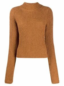 Acne Studios mock neck jumper - Brown