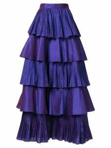 Bambah Perennial ruffled maxi skirt - PURPLE