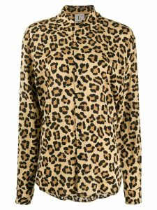 L'Autre Chose leopard print long sleeve shirt - NEUTRALS