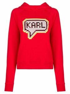 Karl Lagerfeld Karl Pixel hoodie - Red
