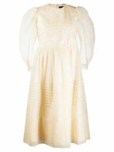 Simone Rocha tulle overlay shift dress - NEUTRALS