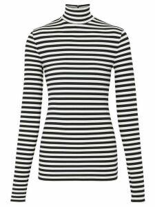 Burberry striped turtleneck T-shirt - Black