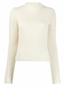 Acne Studios mock neck jumper - NEUTRALS