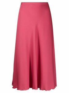 Theory high-waist flared skirt - PINK