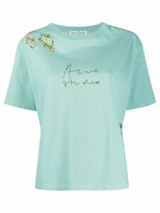 Acne Studios jacquard patch T-shirt - Blue