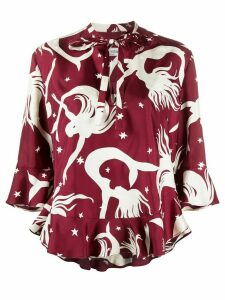 Valentino Mermaid Shapes blouse - PURPLE