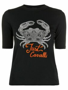 Just Cavalli Crab print T-shirt - Black