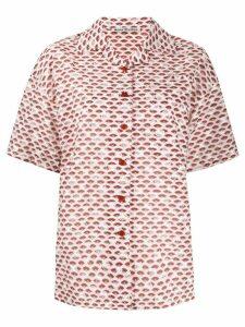 Acne Studios fil-coupé short-sleeved shirt - PINK