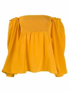 Dorothee Schumacher off-the-shoulder smocked top - Yellow