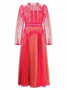 Self-Portrait sheer lace dress - PINK