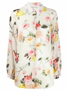 Semicouture long-sleeved floral-print shirt - NEUTRALS