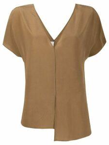 Alysi asymmetrical blouse - Brown