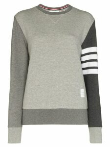 Thom Browne 4-Bar motif print sweatshirt - Grey