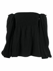 Dorothee Schumacher off-the-shoulder smocked top - Black
