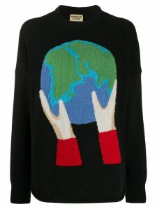 Pringle of Scotland Globe recycled long sleeve jumper - Black