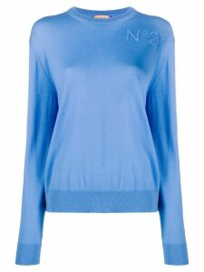 Nº21 crew neck jumper - Blue