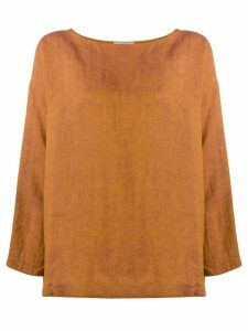 Forte Forte loose-fit linen blouse - ORANGE