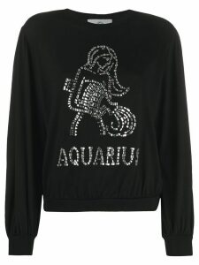 Alberta Ferretti long-sleeve Aquarius T-shirt - Black