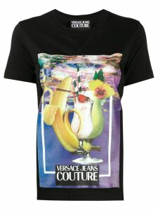 Versace Jeans Couture graphic print T-shirt - Black
