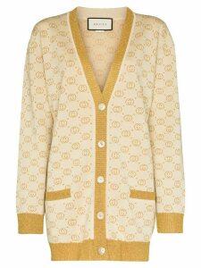 Gucci GG motif knit cardigan - NEUTRALS