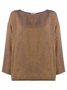 Forte Forte loose-fit linen blouse - Yellow