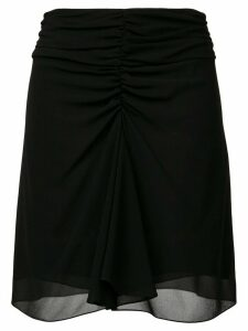 Saint Laurent ruched fitted skirt - Black