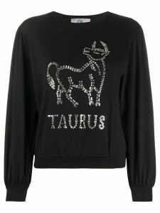 Alberta Ferretti long-sleeve Taurus T-shirt - Black