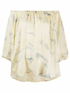 Mes Demoiselles tie-dye off-the-shoulder blouse - Yellow