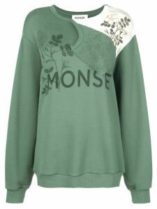 Monse logo print sweatshirt - Green