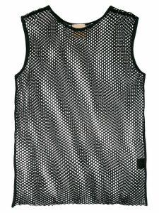 Nude mesh tank top - Black