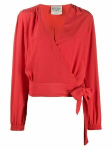 Forte Forte wrap-style blouse - Red