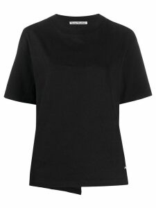 Acne Studios contrast-tape T-shirt - Black