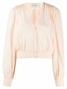 Forte Forte cropped v-neck blouse - PINK