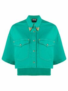 Versace Jeans Couture cropped denim jacket - Green