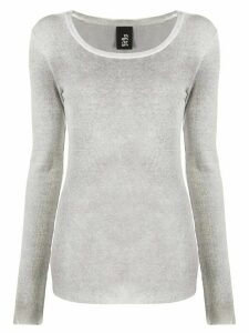 Thom Krom long-sleeve fitted top - Grey